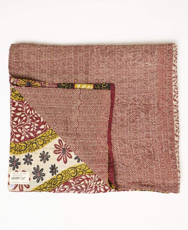 large quilt that is fair trade certified and sustainably made in India