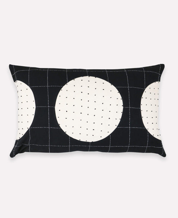 contemporary accent pillow with colorblock concentric pattern