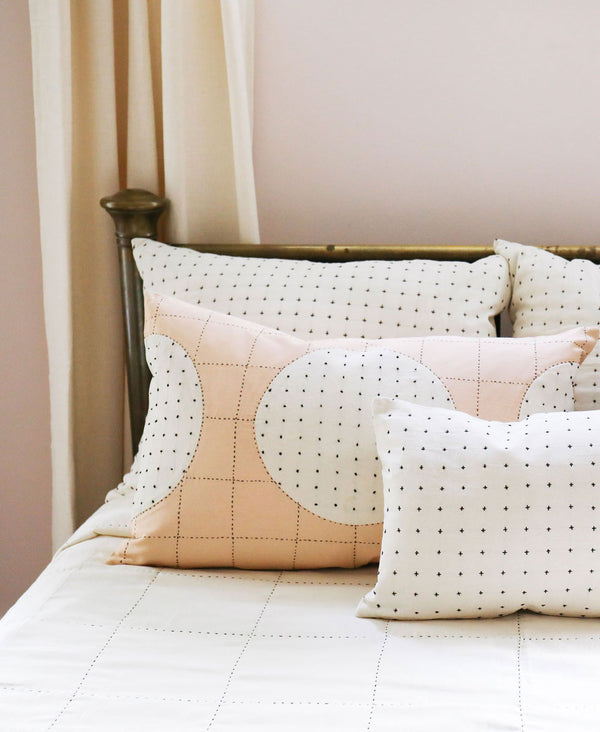 lunar dot lumbar pillow by Anchal Project