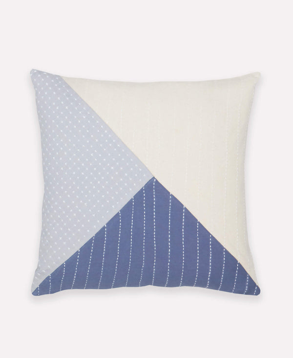 Anchal Project Didi colorblock throw pillow made from organic cotton and made by anchal artisan