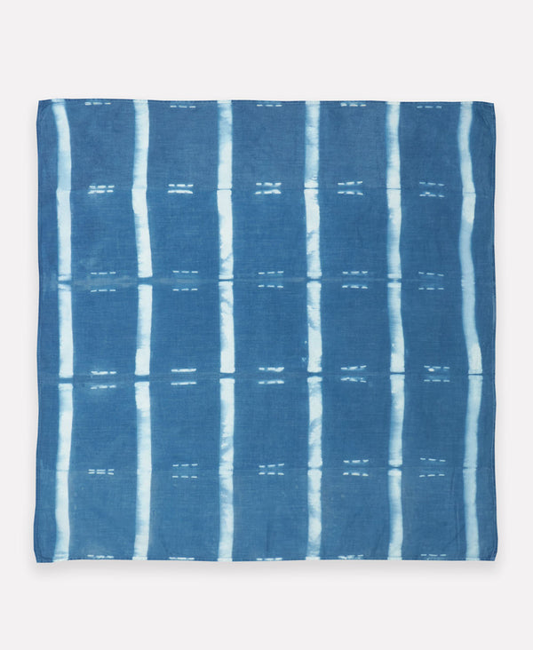 naturally dyed shibori cotton bandana