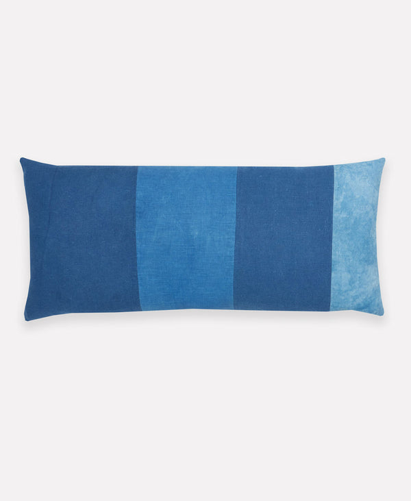 organic cotton lumbar pillow using natural plant dyes by Anchal Project