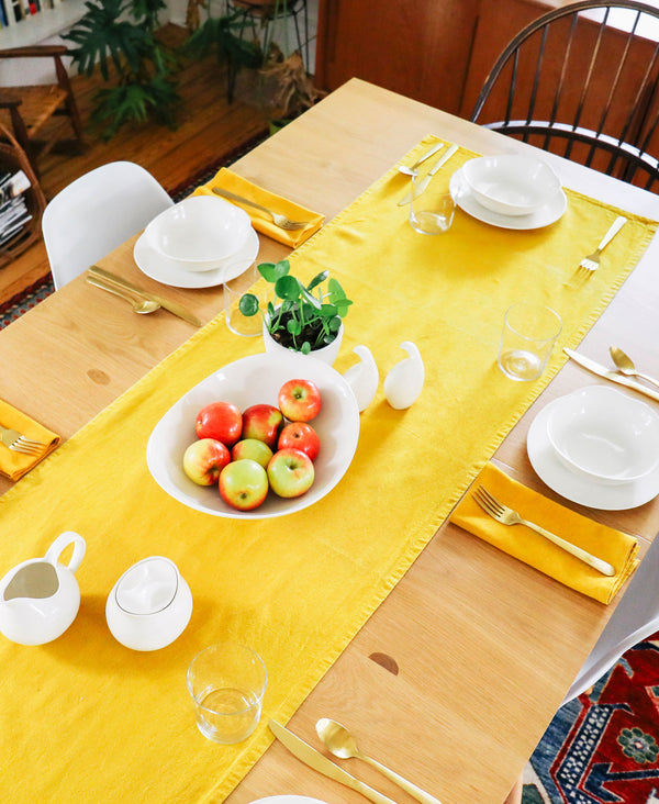 Naturally Dyed Table Runner - Marigold