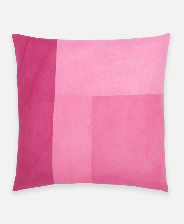 naturally dyed throw pillow using cochineal by Anchal Project