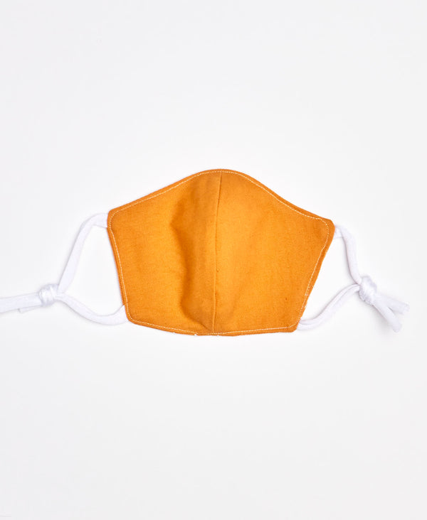 Organic Cotton Face Mask - Mustard