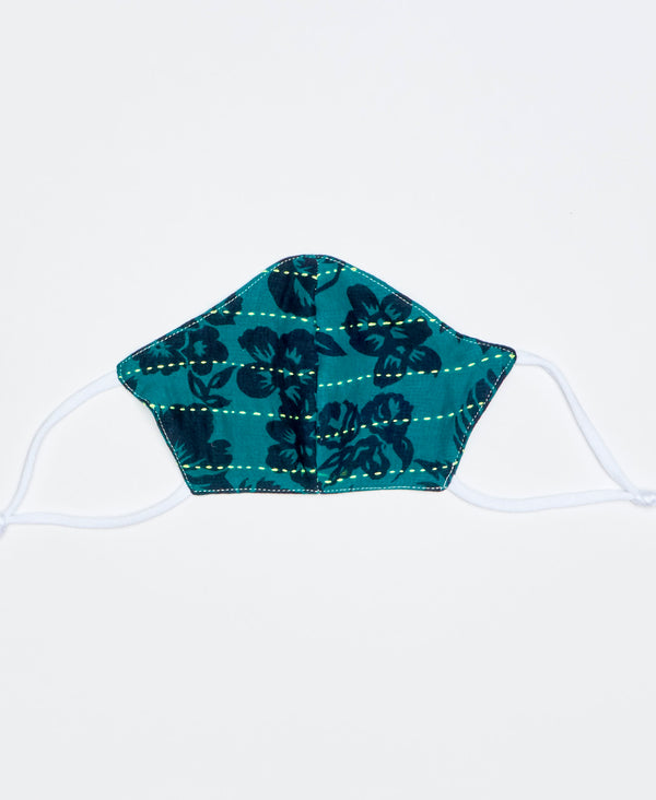 Overdyed Kantha Face Mask - Teal