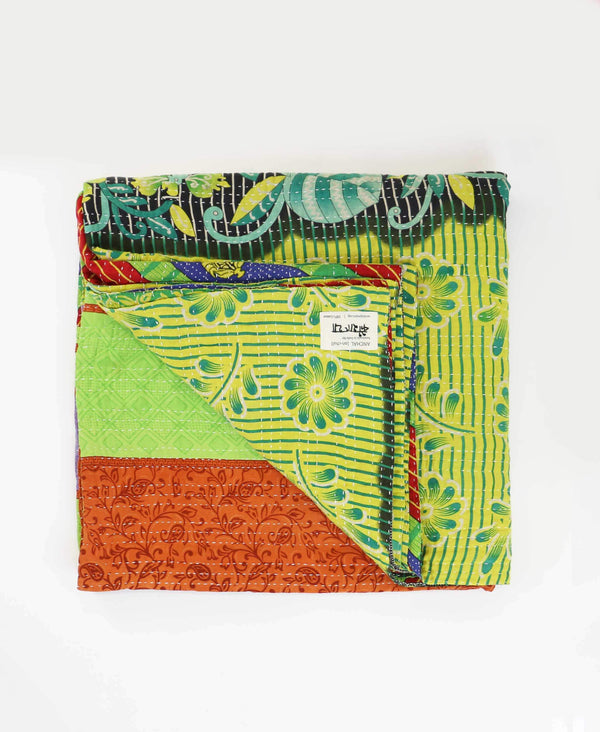 Queen Kantha Quilt Bedding - No. 190522