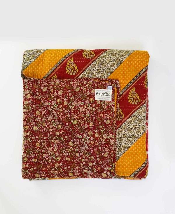 Queen Kantha Quilt Bedding - No. 190524