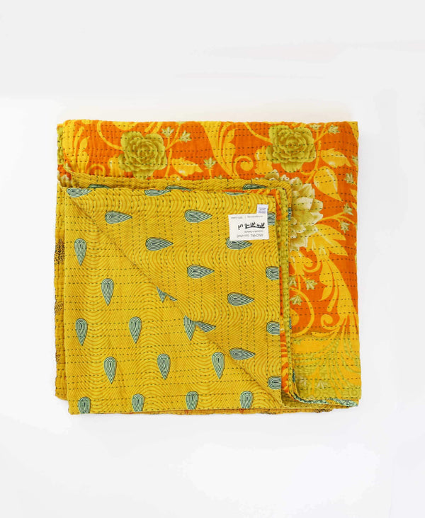 Queen Kantha Quilt Bedding - No. 190525