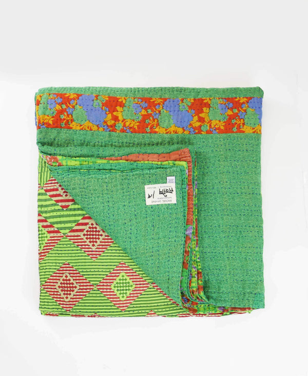 Queen Kantha Quilt Bedding - No. 190521
