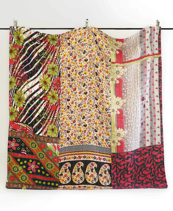 Queen Kantha Quilt Bedding - No. 190518