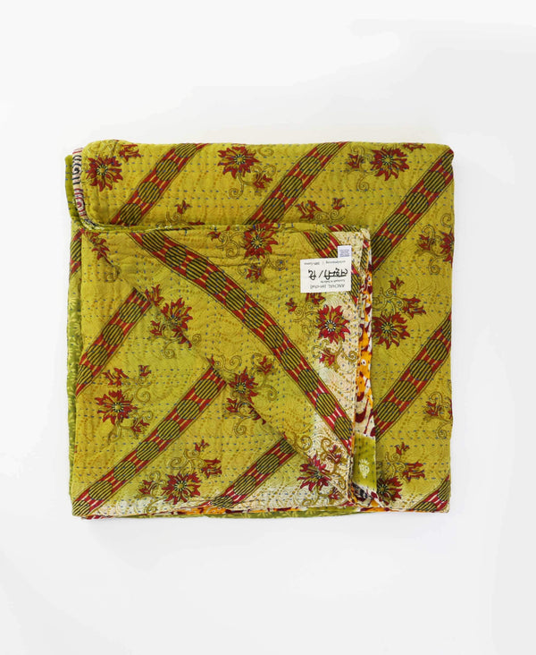 Queen Kantha Quilt Bedding - No. 190514