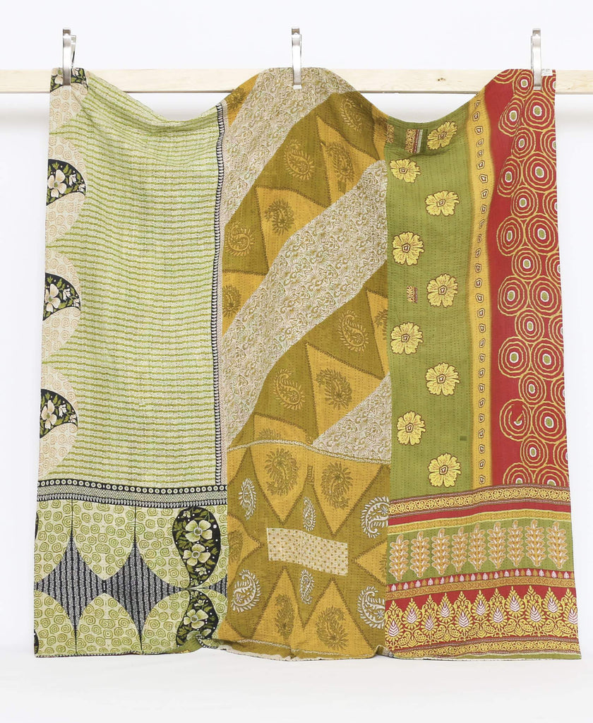 queen kantha quilt bedding perfect addition to any bed