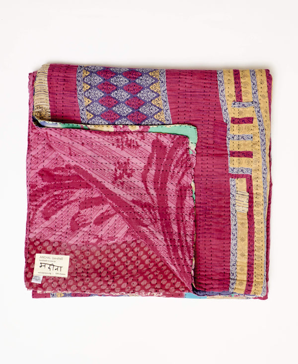 Queen Kantha Quilt Bedding - No. 190914