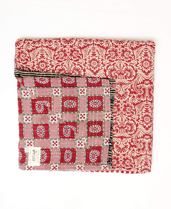 Queen Kantha Quilt Bedding - No. 190936