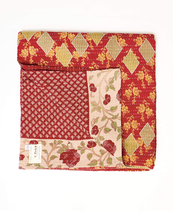 reversible queen throw in red for interchangeable home decor