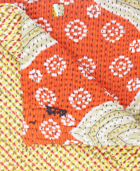 anchal small kantha throw