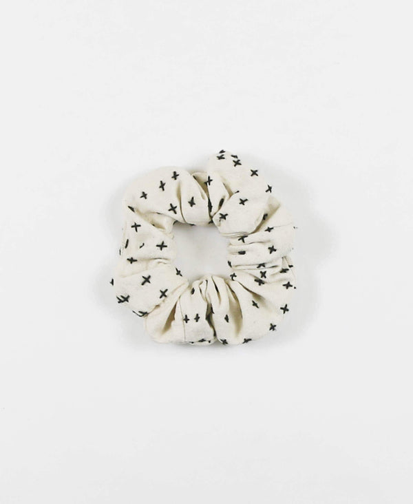 Anchal Project organic cotton hair scrunchie in ivory