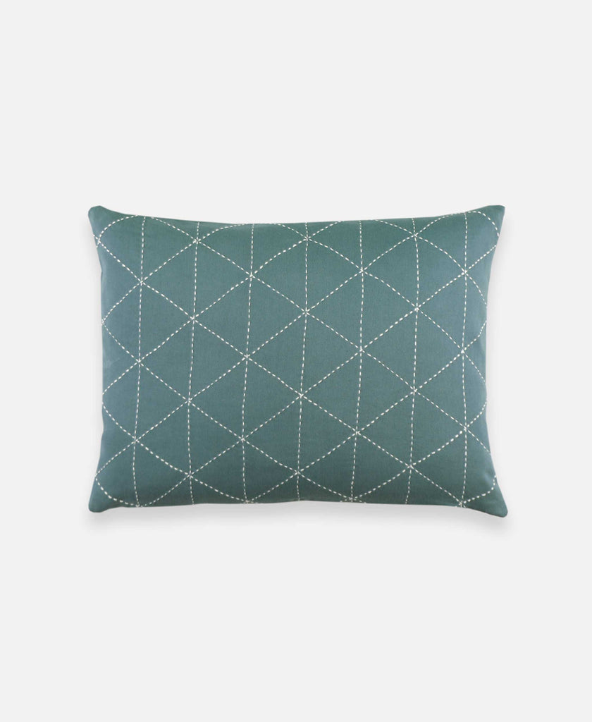 Small Graph Throw Pillow - Spruce