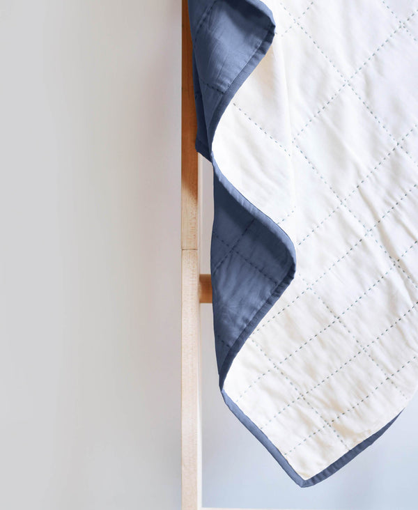 Buttery soft throw quilt made by Anchal artisans
