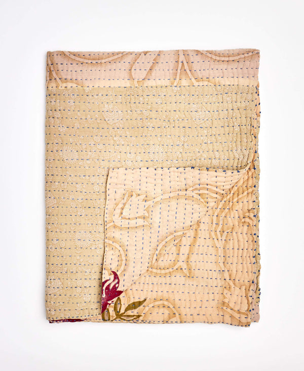 Small Kantha Throw Quilt - No. 200201