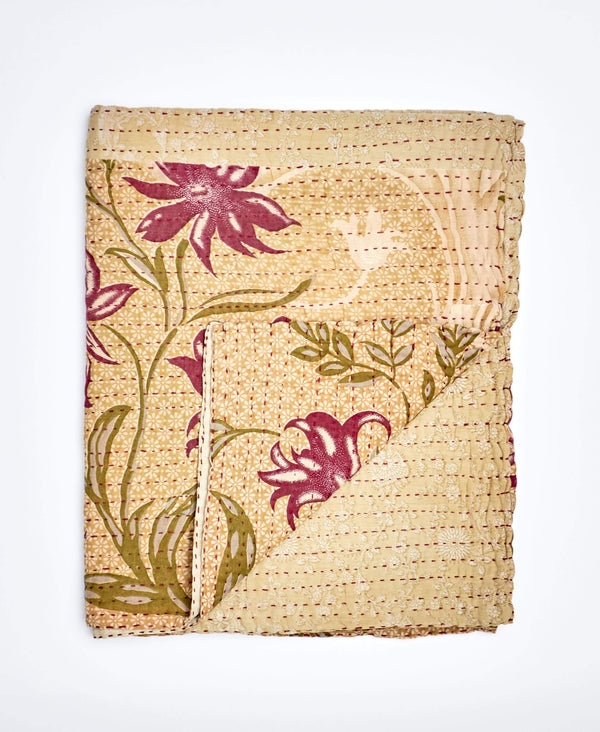 Small Kantha Throw Quilt - No. 200202