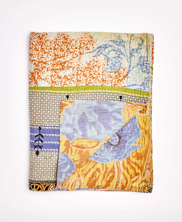 Small Kantha Throw Quilt - No. 200203