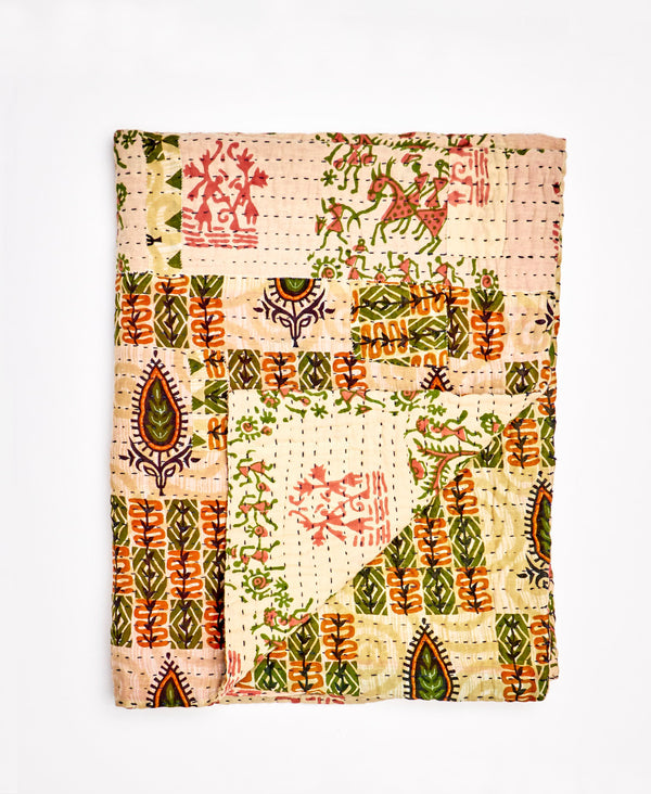 Small Kantha Throw Quilt - No. 200208