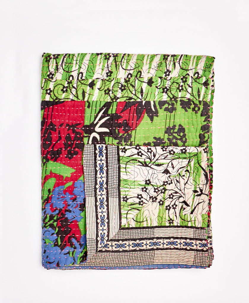 Small Kantha Throw Quilt - No. 200214