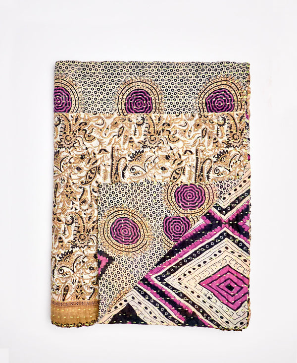 Small Kantha Throw Quilt - No. 200216