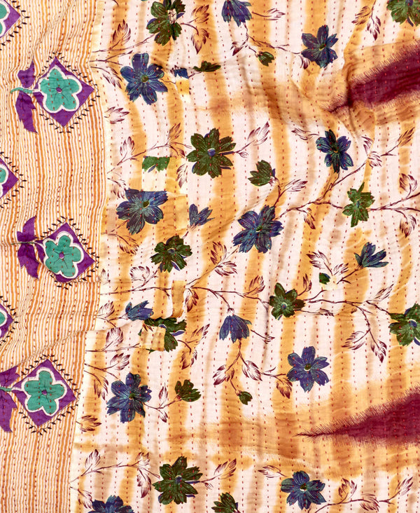 Small Kantha Throw Quilt - No. 200218