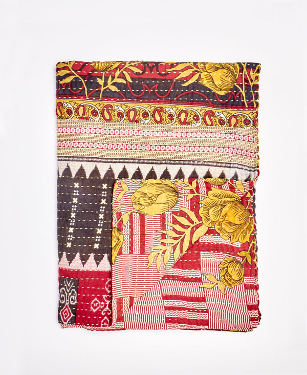 Small Kantha Throw Quilt - No. 200220