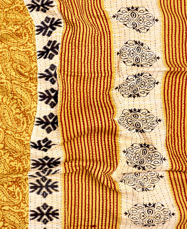 Small Kantha Throw Quilt - No. 200222