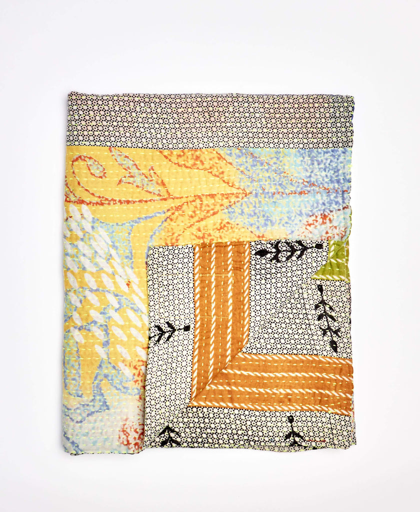 Small Kantha Throw Quilt - No. 200223