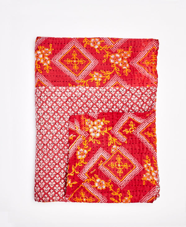 Small Kantha Throw Quilt - No. 200224
