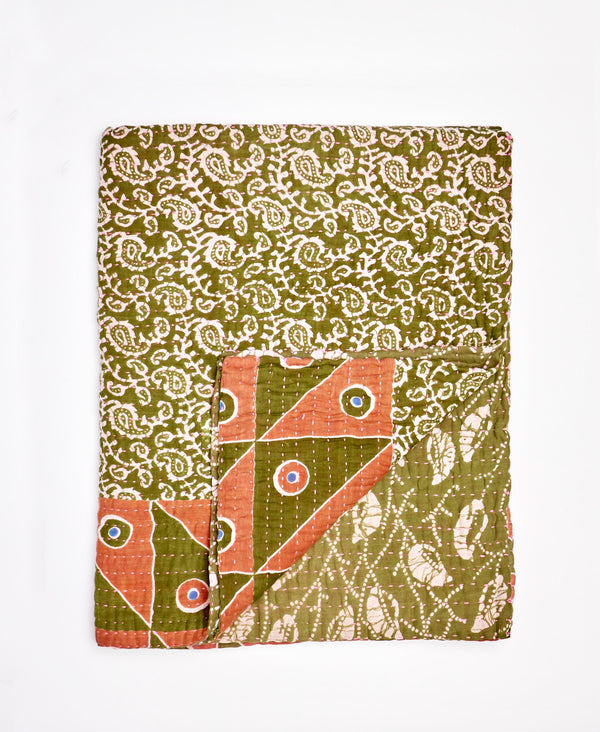 Small Kantha Throw Quilt - No. 200226