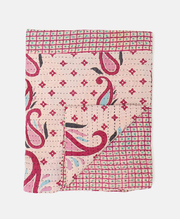 pink Martha quilt throw blanket