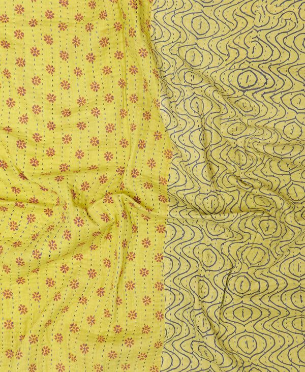 vintage kantha quilt ethically made by Anchal Project artisans
