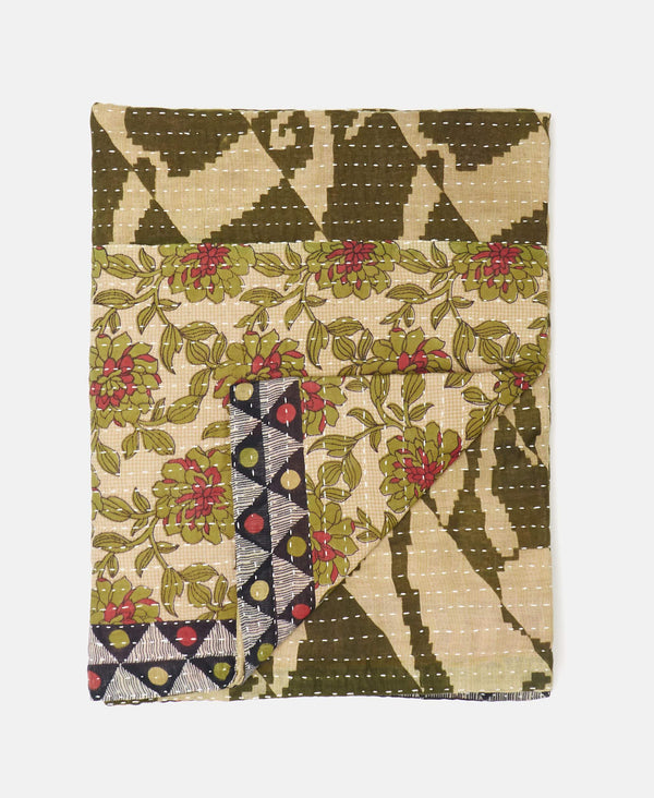 Small Kantha Throw Quilt - No. 190916