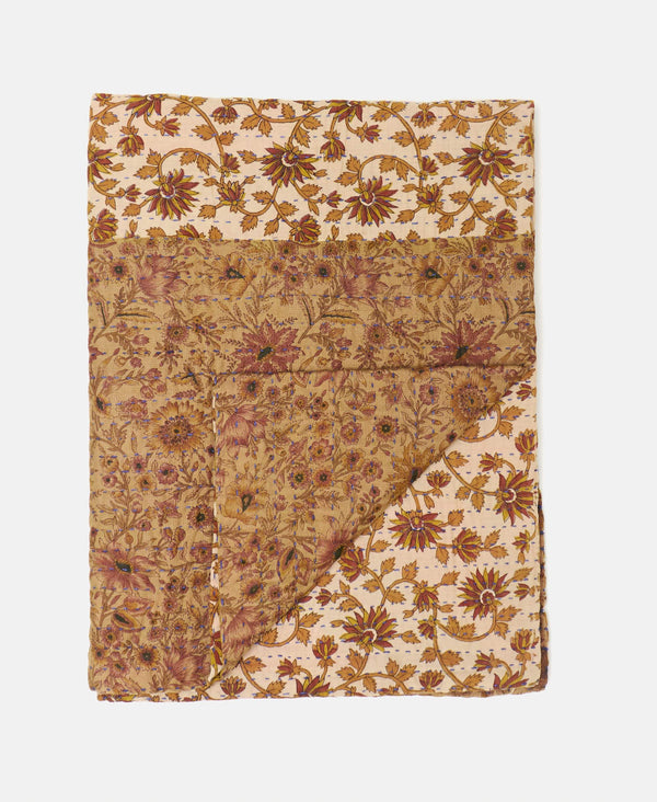 Small Kantha Throw Quilt - No. 190918