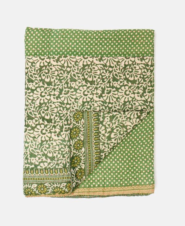 Small Kantha Throw Quilt - No. 190919