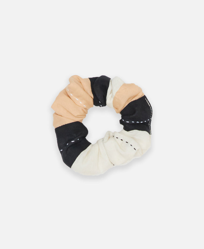 organic cotton striped scrunchie by Anchal Project