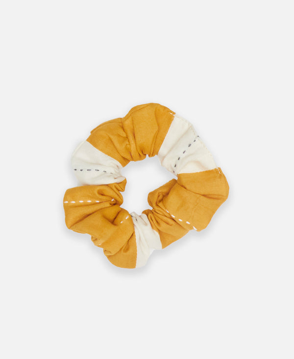 golden organic cotton scrunchie by Anchal Project