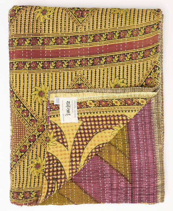 Twin Kantha Quilt Bedding - No. 190949