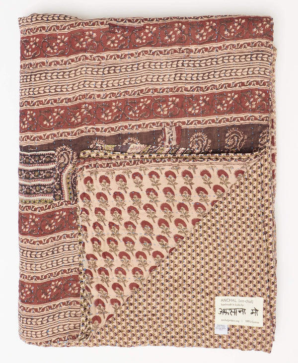 Twin Kantha Quilt Bedding - No. 190951