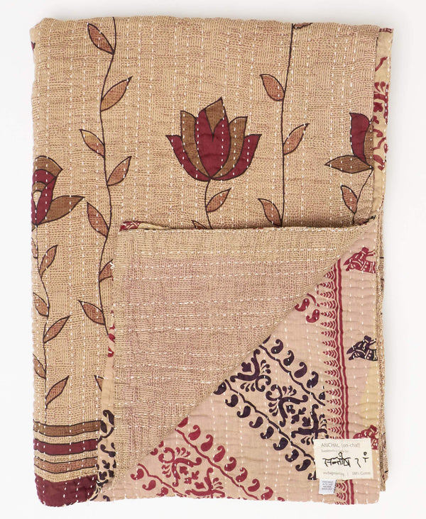 Twin Kantha Quilt Bedding - No. 190952