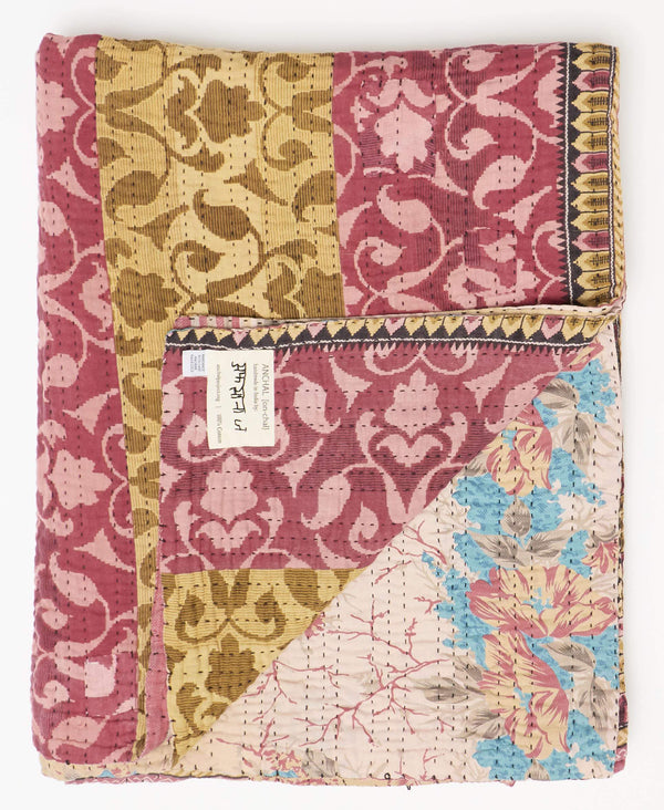 Twin Kantha Quilt Bedding - No. 190953