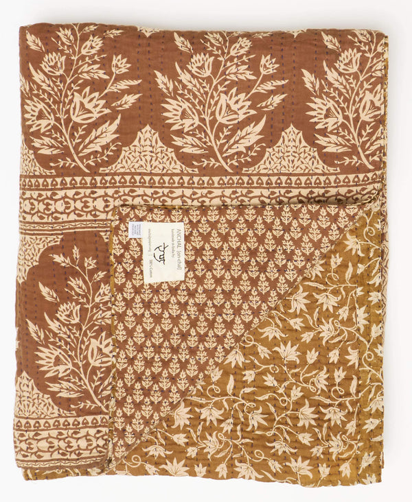 Twin Kantha Quilt Bedding - No. 190954