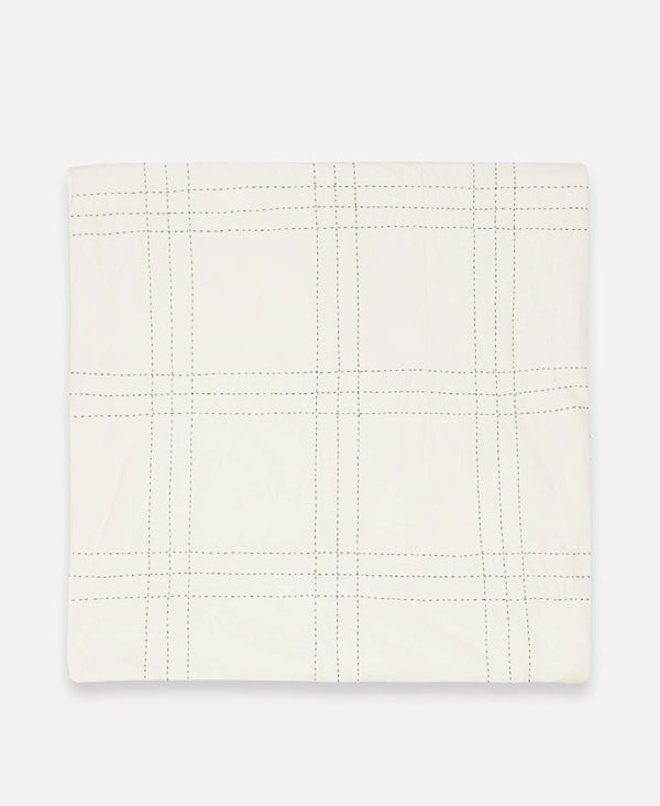 window pane organic duvet cover with grid pattern by Anchal Project