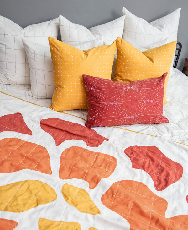 window pane duvet cover with modern throw and colorful pillows